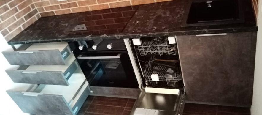 кухня лофт бетон egger