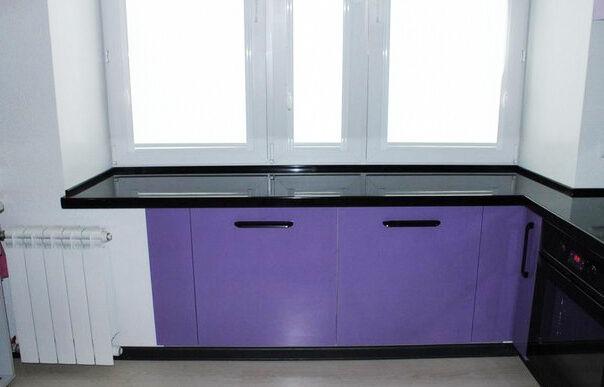 Угловая кухня на заказ фасады пластик