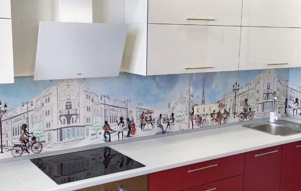 угловая кухня с пеналом
