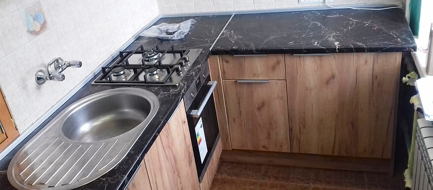 кухня угловая в Эггер
