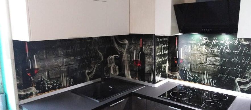 кухня на заказ в пвх с барной стойкой