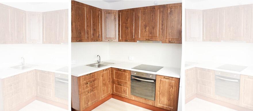 Угловая кухня на заказ МДФ с ПВХ